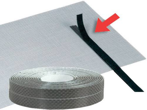 Velcro tape for insect screening Fiberglass / Aluminum 6.6 mt