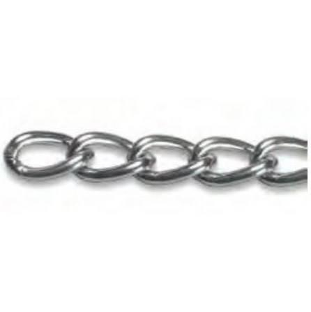 Catena Curb Chain Nichelata Krone