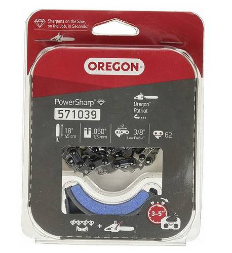 Replacement Kit for Chain and Sharpening Stone for Chainsaw CS1500 Oregon 571039