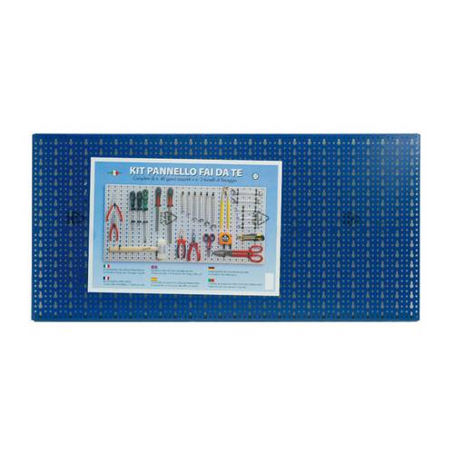 Perforated Panel Kit Tool Holder Tools 50x100 cm Red Blue Sipa