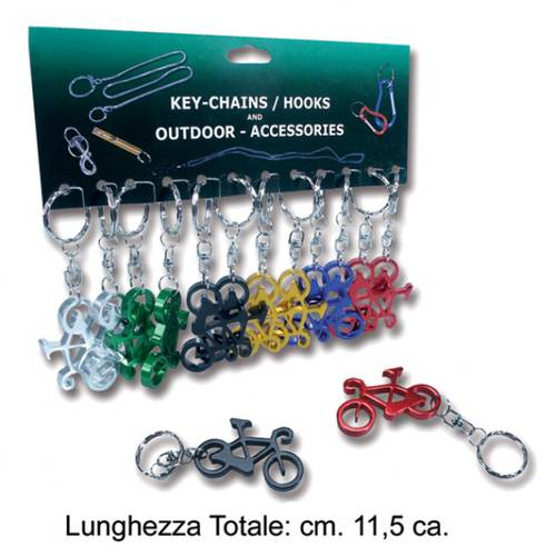 Bicycle Metal Keychain cm.11,5