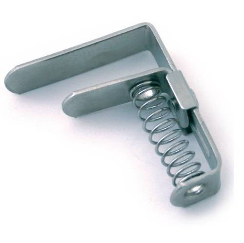 Nickel-Plated Tablecloth Hook with Spiral Spring 60mm Rapid
