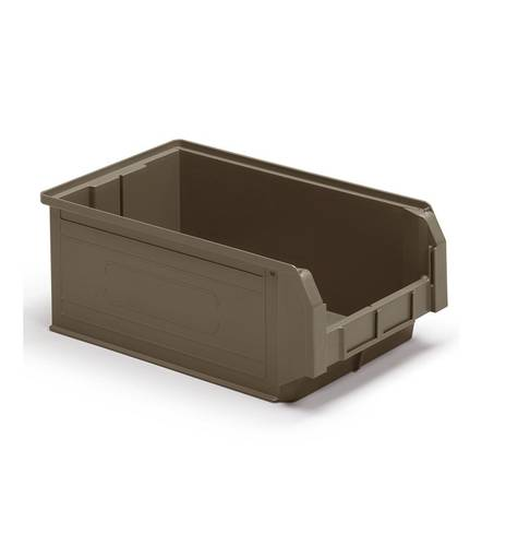 Ecogreen Dark Gray Plastic RAL7000 Compact Small Object Container Case IdeaOne