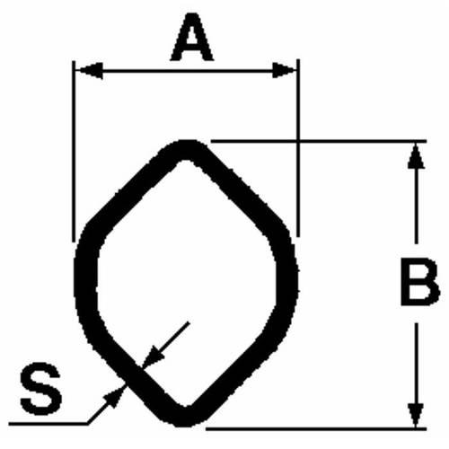 "Cardan tube Internal Profile ""Lemon"" Adapt. Walterscheid"