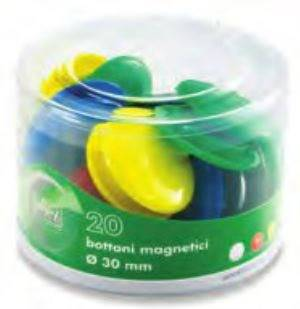 Pack of 20 Magnetic Buttons for Magnetic Boards Lebez