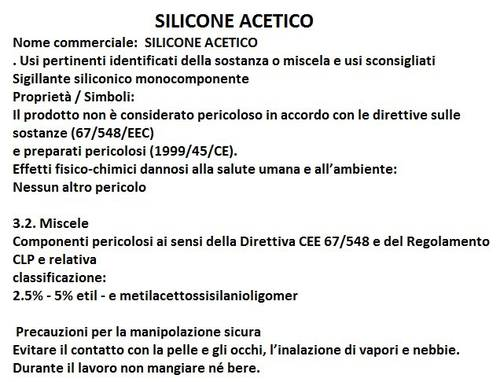 Acetoxy silicone SILL 400 Black 280 ml Arexons