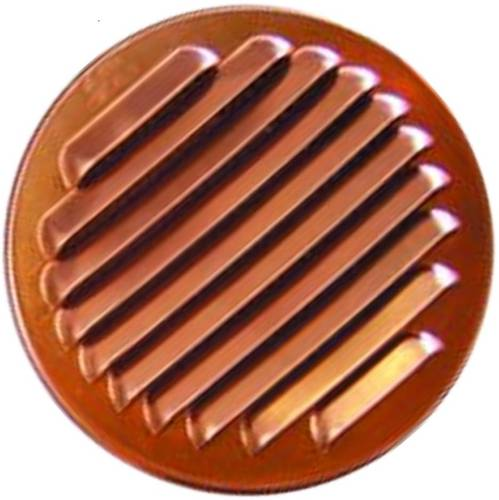 Ventilation grill Round Copper with Network 1