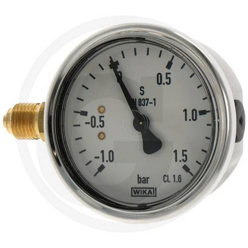"Vacuum pressure gauge with glycerine -1 / + 1,5 bar 1/4 ""4050840091 Wika"