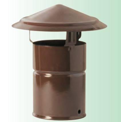 Chimney Terminal Hat Smalbo Brown Stove