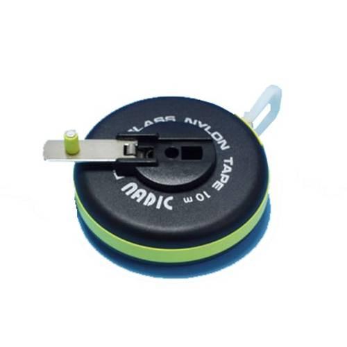 Metric wheel with plasticized fiberglass tape