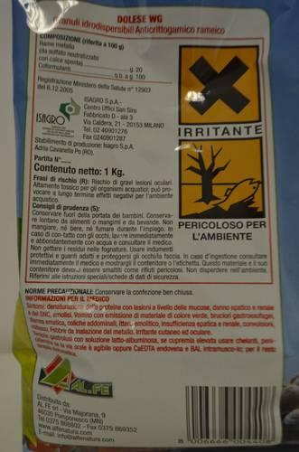 Pesticide fungicide Bordeaux mixture 1 Kg Al.Fe