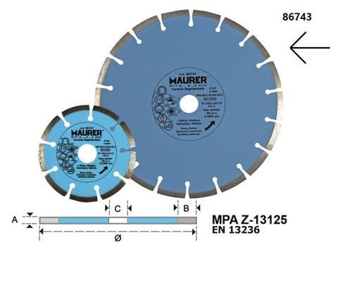 Diamond Blade Segmented Crown mm.230 086743 Maurer
