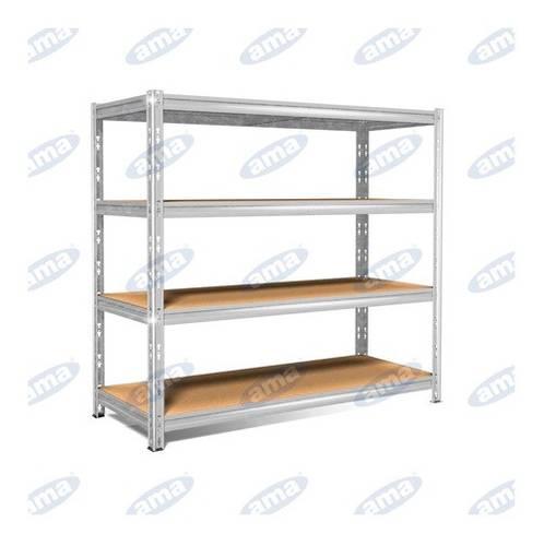 Shelf 4 Wooden shelves 150x60x180 cm 85121 Ama