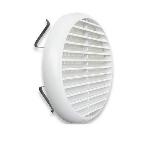 Plastic Ventilation Grille Mosquito Net ø106mm with TUR100B Spring Ventilation