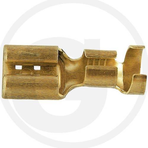 Flat plug Female Brass 6.3mm Granit 50750251222