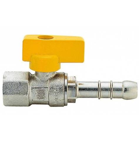 Female Gas Sphere Faucet with Hose Holder
