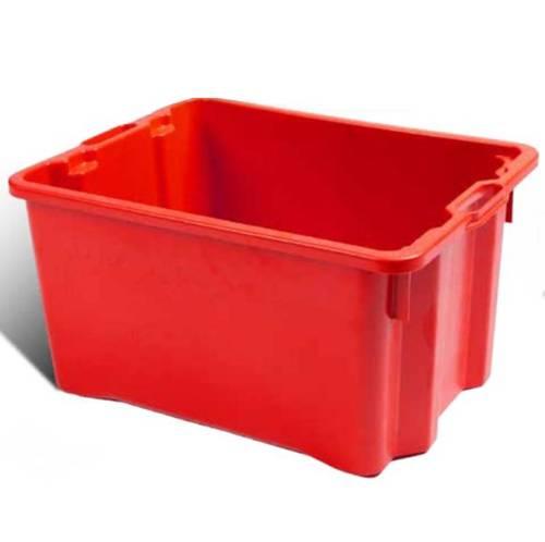 Closed Plastic Box Lt.50 Red ICS