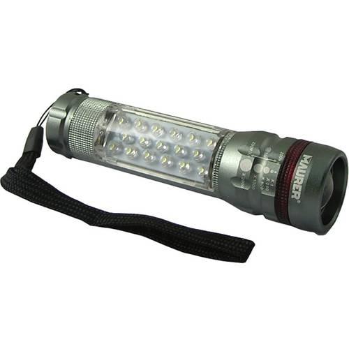Led Flashlight Aluminum Front / Side + Zoom 097,409 Maurer