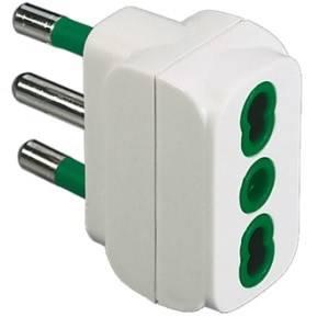 Simple Italian adapter plug 2P + T 16A S17 Fanton 82110