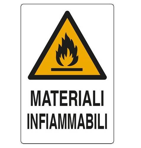 "Danger Aluminum Sign ""Flammable Materials"" cm.20x30"