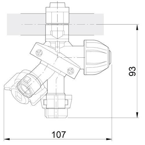 Nozzle holder 3 Vie with Drip Membrane Arag 08979