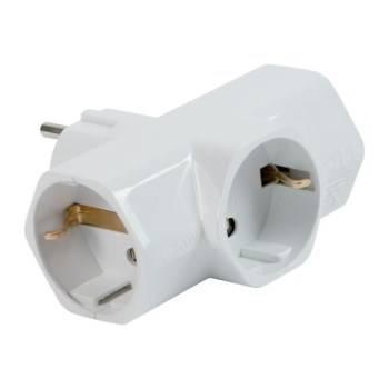 German 2P + T 16A Triple Plug Adapter 3 German Sockets 2P + T 16A Art.82260 Fanton