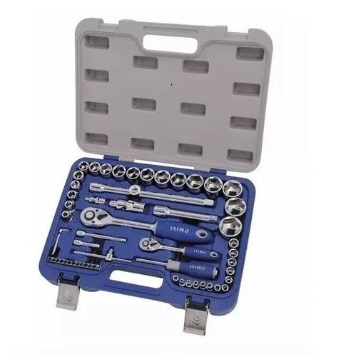 """Assortment Set 53 pcs 1/2 """"+1/4"""" Socket Wrenches and Tools 129A-53-4 Irimo By Bahco"""