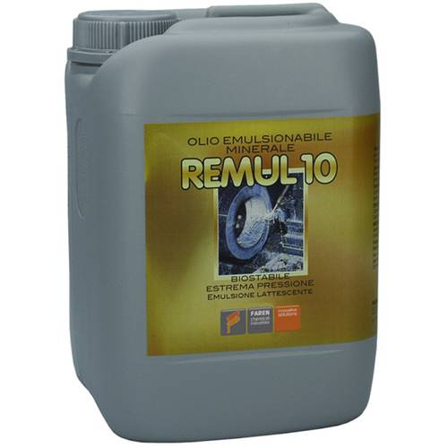 "Emulsifiable Cutting Oil Remul 10 ""Mild EP"" 5 Litres Mineral Faren 182"