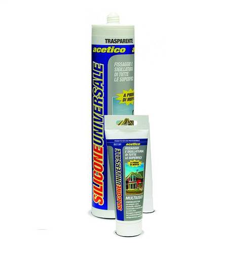Monocomponent White Universal Acetic Sealant Silicone 280 ml Internal and External Prochimica