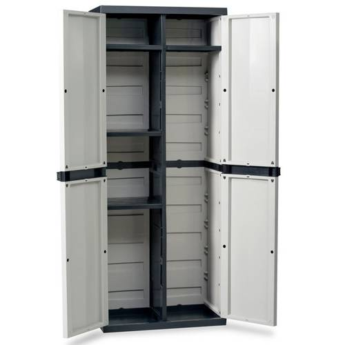 Wardrobe with 2 doors with 4 adjustable shelves and compartment Equipment rack art.201 Goddess Home Plastmeccanica
