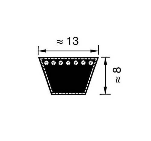 Trapezoidal belt A72 13x1825mm VB131825 Optibelt