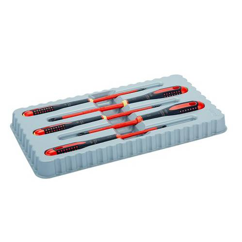 Assortment Set 5 pcs ERGO Screwdriver Insulated Thin Blade BE-9881SL Bahco _