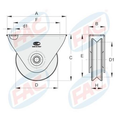 Gola wheel with V Support Outside VA1107 FAC