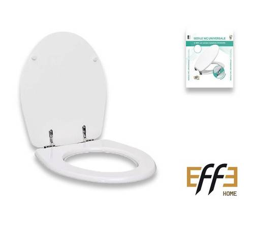Universal Toilet Seat MDF Wood White Effe Painted