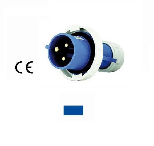 Straight Plug Industrial Adapter 2P + E 16A 230V IP67 Blue 94648 Maurer