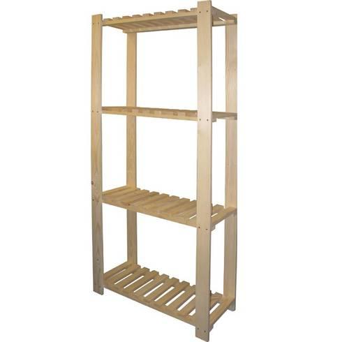 Shelf 4 Wooden shelves MAURER Art.99721 160X70X30