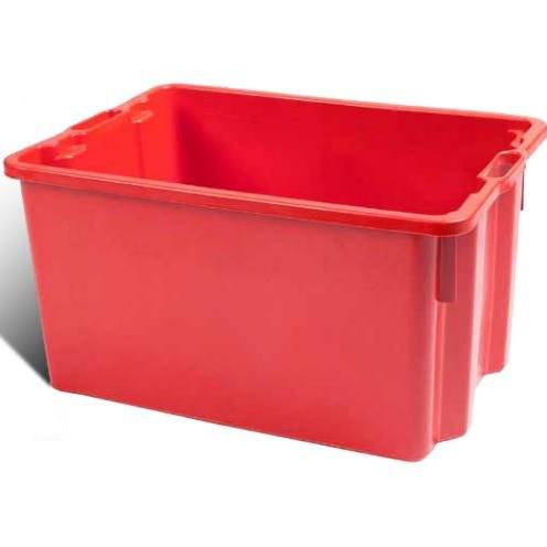 Stackable crate in Red Plastic ICS