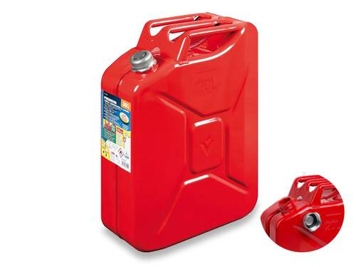 TUV-GS Red 20 Liters Metal Fuel Can with Magnetic Screw Cap