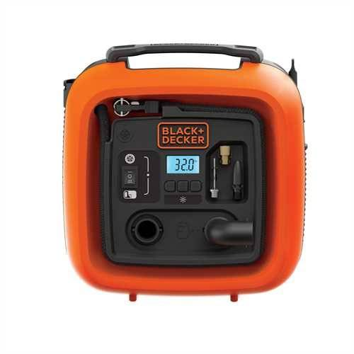 Compact Portable Compressor Without Tank 11 Bar 12V ASI400-XJ Black + Decker