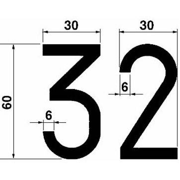 for Plaques Stickers numbers