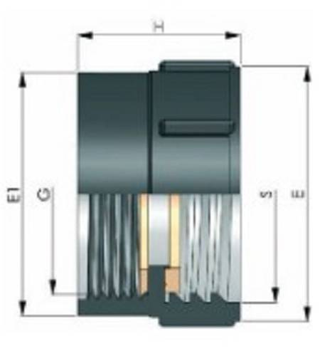 "Raccordo per Cisterna F 1.1/2"" x 60 mm"