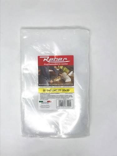 20 Embossed Food Vacuum Bags cm.20x30 Reber 6722N