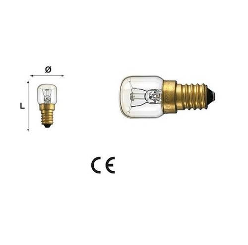 300W Incandescent Oven Bulb 15W 85 Lumen E14 230V 2700K 91392 Maurer