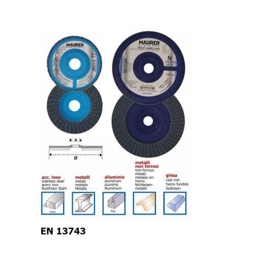Flap disc Zirconium 115x22mm Maurer