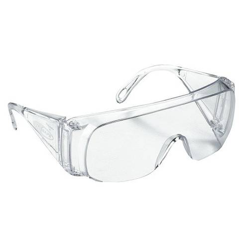 Transparent Bar-shaped Protective Work Glasses in Black Antifog Polycarbonate 162074