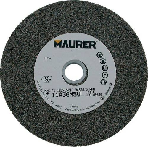 Abrasive disc wheel 125x15x16 mm Maurer
