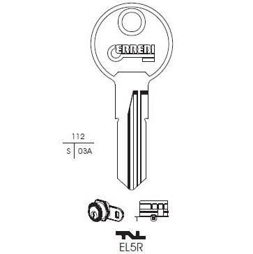 Chiave Euro Lock EL5R sister