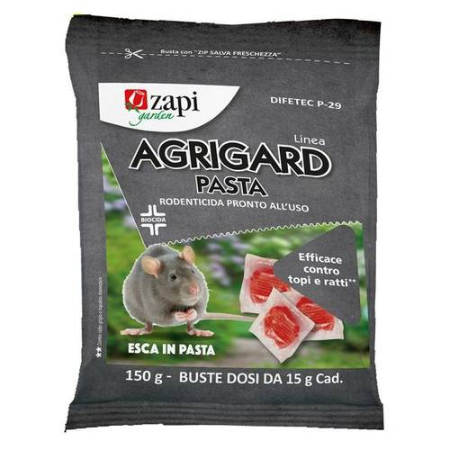 Rodenticide Topicide Bait in Ready to Use Sachets 150gr AGRIGARD Zapi Garden