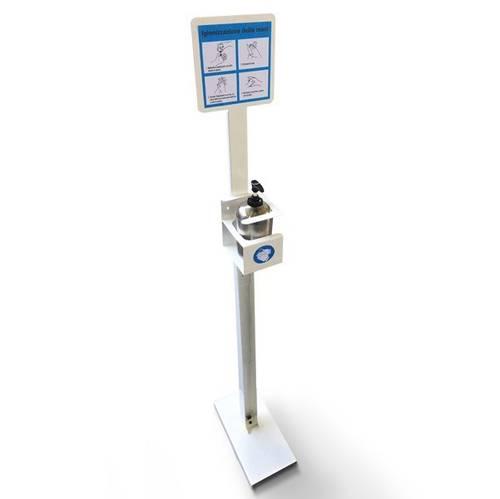 Floor Standing Dispenser Holder Hand Sanitizer Gel 500ml 5015/2 Metalplus