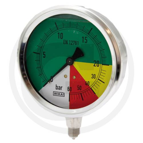 "Pressure gauge with glycerin 0-20-40-60 bar 1/4 ""67001-00001 Wika"